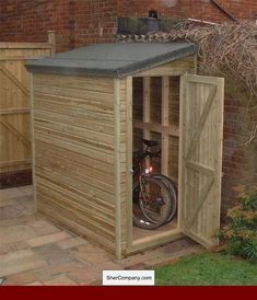 Amazing Shed Plans - Small garden shed Now You Can Build ANY Shed In A Weekend Even If You've Zero Woodworking Experience! Start building amazing sheds the easier way with a collection of shed plans! Diy Storage Shed Plans, Small Shed Plans, Wood Shed Plans, Shed Building Plans, Building Ideas, Small Garden Storage Ideas, Storage Sheds, Building Design, Garden Bike Storage