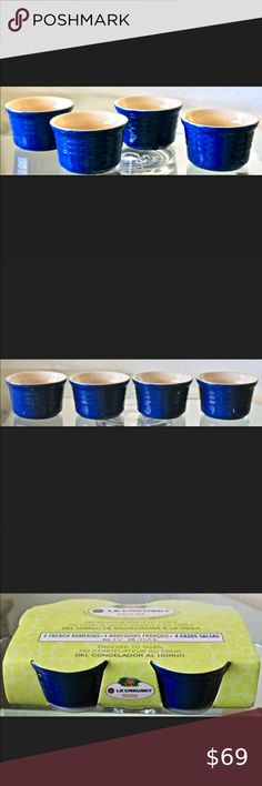 I just added this listing on Poshmark: LE CREUSET POTERIE FRENCH 4 RAMEKINS BLUE. #shopmycloset #poshmark #fashion #shopping #style #forsale #Le Creuset #Other Quiche Dish, Gratin Dish, Le Creuset Ramekins, Creme Brulee Dishes, French Onion Soup Bowls, Sandalwood Candles, Dw Home Candles, Pie Bird, Le Creuset Stoneware