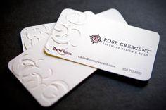 Rose Crescent Business Cards.