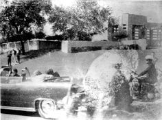 One of three remaining Polaroid photos taken by Mary Moorman at the assassination of President John F. Kennedy in Dallas on Nov. 22, 1963.