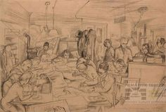 By Leo Haas: Drawing Studio in Theresienstadt. Theresienstadt concentration camp, also referred to as Theresienstadt Ghetto, was established by the SS during World War II in the fortress and garrison city of Terezín, located in what is now the Czech Republic.