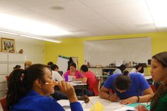Students in Write Who You Are program take a #personalessay workshop at the Carlos Rosario International Public Charter School, an organization that teaches English language and vocational skills to immigrants.