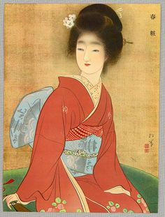 Beauty in Spring - By Shoen Uemura In Japan female artist Shoen Uemura is a highly respected person and a kind of household name. People owe her respect for her courage to fight for the rights of women in Japan and for her achievements as a great artist.