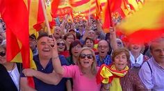 Thousands Attend Spanish Unity Demonstration in Barcelona