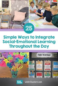 25 Ways Teachers Can Integrate Social-Emotional Learning