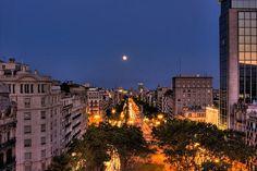 night streets of Barcelona