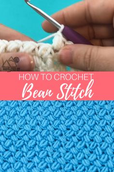 Learn how to crochet the bean stitch with this video tutorial. This creates a great texture. Learn to crochet the Bean stitch with this crochet video tutorial. The bean stitch is a wonderful texture crochet stitch. Crochet Stitches For Beginners, Crochet Stitches Patterns, Crochet Videos, Sewing For Beginners, Knitting Patterns, Unique Crochet Stitches, Crochet Baby Blanket Patterns, Crochet Projects For Beginners, Beginner Crochet Patterns