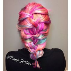Pink and Blue Sherbet Punch Haircolor by Jordan Glindmyer