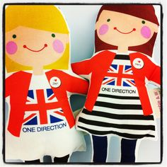 Custom @onedirection dolls for my girls.