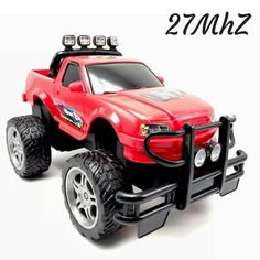 4WD Monster RC Truck Radio Control Red R/C Toy Remote Vehicle 12x7x7in 27MhZ New  | eBay