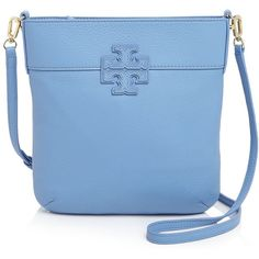 Tory Burch Stacked T Crossbody ($296) ❤ liked on Polyvore featuring bags, handbags, shoulder bags, blue dusk, blue purse, blue crossbody handbag, blue handbags, crossbody handbags and blue cross body purse