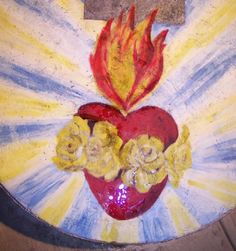 Visions of Jesus Christ.com - Icon of the Sacred Heart and the Immaculate Heart united as One wept perfumed oil, Rockingham Australia