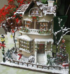 Wanted luxury interior penthouse Miniature Crafts, Miniature Christmas, Christmas Minis, Miniature Houses, Miniature Dolls, Christmas Crafts, Xmas, Christmas Village Houses, Christmas Villages