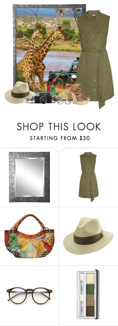 """""""Guided Safari Tour"""" by shanasark ❤ liked on Polyvore featuring Rayne, Out of Africa, Equipment, Anuschka, Tommy Bahama, Wildfox, Michael Kors and Clinique"""