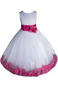 AMJ Dresses Inc White/fuchsia Flower Girl Pageant Dress Size 6 by AMJ Dresses Inc, http://www.amazon.com/dp/B006RAZ3Q8/ref=cm_sw_r_pi_dp_bpUrqb0SDJ321