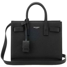Pre-owned Saint Laurent Nano Sac De Jour Grained Leather Black Tote... ($1,900) ❤ liked on Polyvore featuring bags, handbags, tote bags, sac, black, yves saint laurent tote bag, shoulder strap handbags, shoulder strap purses, full grain leather purse and full grain leather handbags