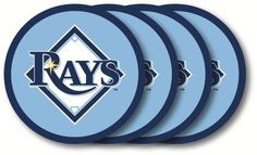 Tampa Bay Rays Coaster Set - 4 Pack
