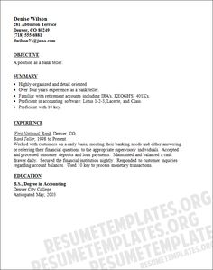 cover letter examples for customer service bank teller resume sample - Resume Example For Jobs