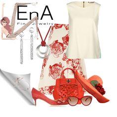Ena Red by cavell on Polyvore featuring moda, Darling, STELLA McCARTNEY, Oscar de la Renta, Banjanan and Chloé