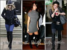 How To Wear Thigh High Boots without looking like a hooker? Maybe with jeans.