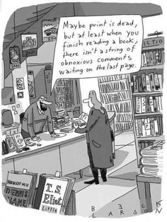 Mystery Fanfare: Cartoon of the Day: Print Books Book Art, D Book, Book Writer, Love Book, Satire, Library Humor, Library Quotes, Spiegel Online, Word Nerd