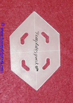 Hexagono Alargado Templatesquick ® ™ plantilla plastico reutilizable