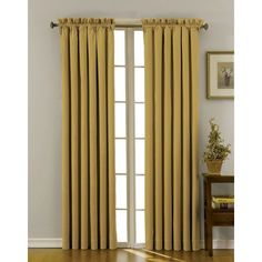 Canova Gold 42-Inch x 84-Inch Blackout Window Curtain Panel