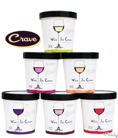 Treat Yourself To A Heaping Glass Of Wine Ice Cream. Cute idea to give as part of gift to bridesmaids-- I think