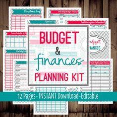 budget & finances planning kit
