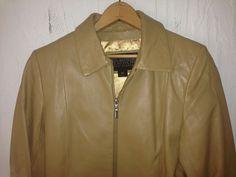 Wilsons Leather Pelle Studio Beige Leather Jacket Womens Size XS   eBay