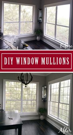 DIY Window Grids. Make Your Own Window Grids (Grilles, Mullions) For Less