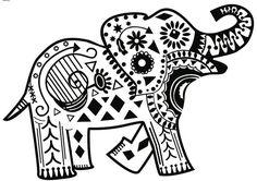 Tribal Elephant  Vinyl Decal 8 x 6 by keydesignbykasey on Etsy, $8.00 @Ashton Massey