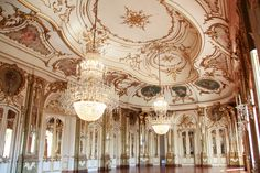 Throne hall room in Queluz palace