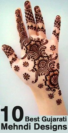 Top 10 Best Gujarati Mehndi Designs