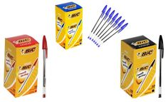BIC Cristal Ball Pens   Need these in blue....
