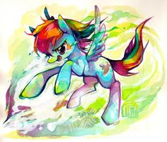 Rainbow Dash water color I think?