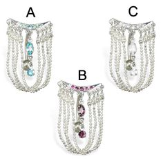 Reversed Chandelier Belly Button Ring.  #piercing #piercingjewelry #jewelry #bodypiercing #bodyjewelry ♥ $5.99 via OnlinePiercingShop.com