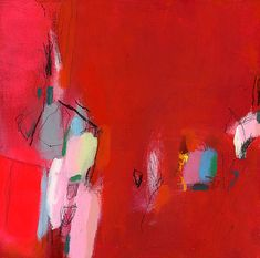huge ABSTRACT GICLEE print from Abstract original red by DUEALBERI, 100x100