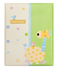 Take a look at this Tan Giraffe & Bird Record Book by pepper pot on #zulily today!