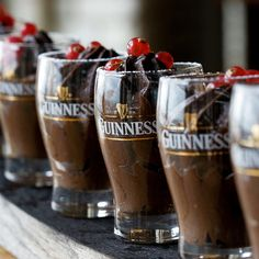 Guinness Chocolate mousse - filled about half of 6 pint glasses - might wash the eggs next time to be safe
