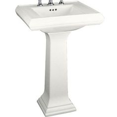 Kohler K2238-8-0 Memoirs Classic Pedestal Bathroom Sink - White $383