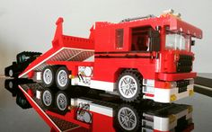 Lego flatbed recoverytruck custommade by Timberdale Creations