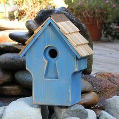 Peeper Keeper Rustic Blue Birdhouse