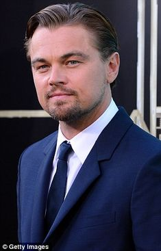Doing the rounds: Leonardo told the waiting journalists that he considers himself a very 'lucky guy'