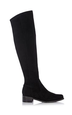 Suede over the knee flat boot