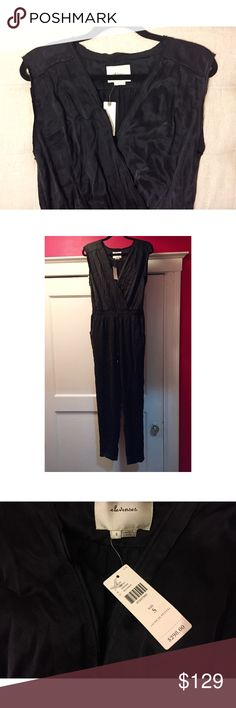 BRAND NEW Anthropologie Silk Jumpsuit 100% Silk  Never been worn, new with tags  Easy alteration to shorten in length if needed👌🏼  I am FIRM on the price. Great deal and you will get a bunch of wear out of it! I'd wear it with a sneaker and a denim jacket or dress it up with a stiletto and chunky jewelry  Will steam for you before shipping! Anthropologie Other