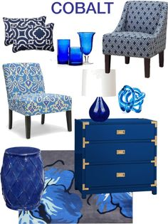 Got the Winter blues? How about sprucing up your space with some bright and bold cobalt blue.