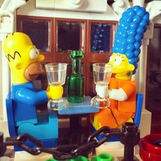 Marge and Homer enjoy a night out. #lego #legogram #legopics #legophotos #legophotos #legostagram #legominifigs #legominifigures #legophotography #legosimpsons #simpsons #thesimpsons #afol #homersimpson #marge #margesimpson #homer #instalego #toyhumor #toystagram #toyphotography