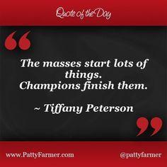 Champions finish!