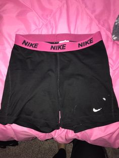 The Nike sign at the bottom is coming off the shorts have paint stains from helping paint my house. I always wore them under my softball uniform. I will wash them before they get sent out. *minor wear from me wearing them all the time* I've had them for 2 years and they are still great shorts very comfy & usable but I'm buying new ones :) Nike Pro Shorts, Gym Shorts Womens, Softball Uniforms, Nike Signs, Paint Stain, Nike Pros, Sport Outfits, Stains, Comfy